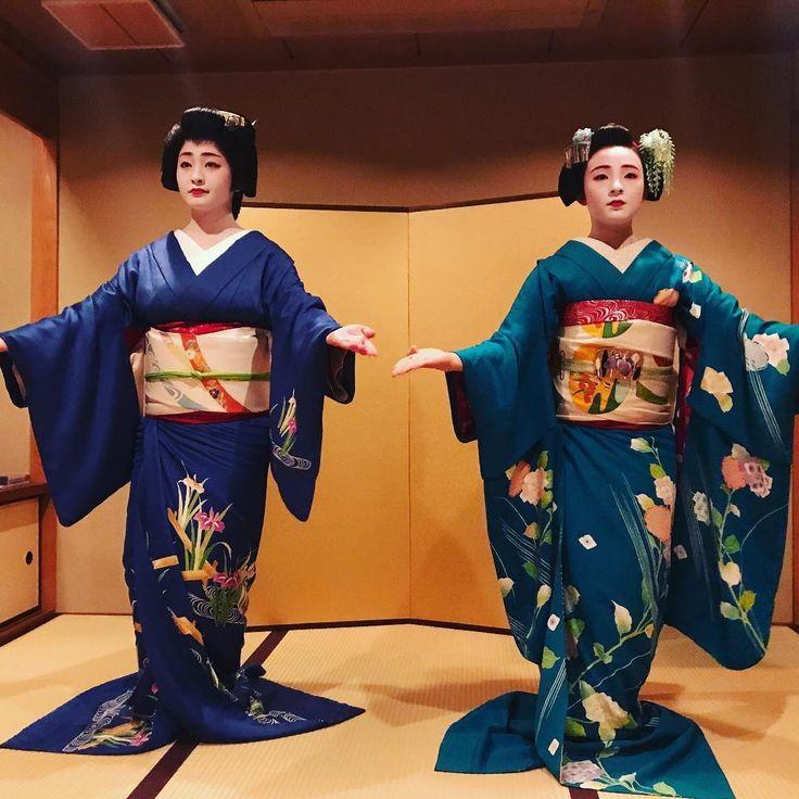 Geiko & Maiko — June 2017: Famous sisters Geiko Satsuki and Maiko...