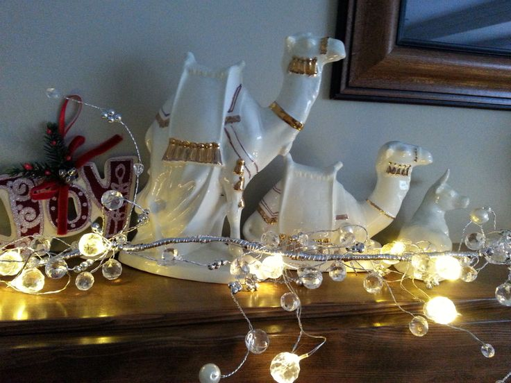 I always loved the camels in my nativity scene, and the little oxen next to them. www.christinelindsay.com