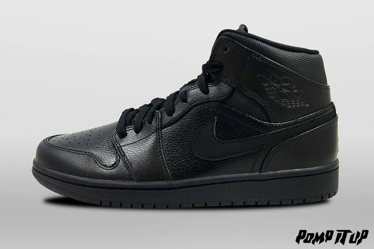 Nike Air Jordan 1 MID (Black/Black-Black) For Men Sizes: from 40 to 46 EUR Price: CHF 150.- #Nike #AirJordan #NikeAirJordan #AirJordan1MID #Sneakers #SneakersAddict #PompItUp #PompItUpShop #PompItUpCommunity #Switzerland