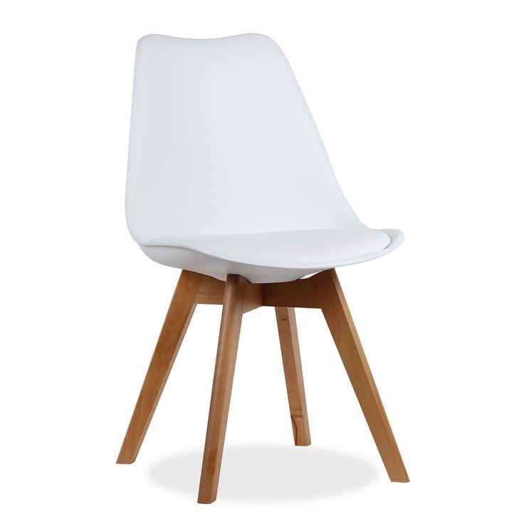 Chaise moderne de design avec si u00e8ge et dossier de polypropyl u00e8ne avec coussin de rembourrage en  # Chaise Polypropylène Et Bois