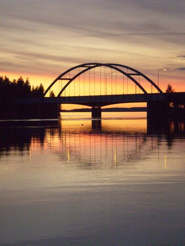 Bridge in Punkaharju, Finland