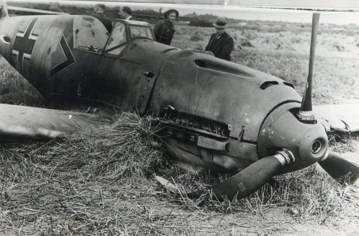 Having found the engine showing signs of strain during the previous day, Obltn Paul Temme of Stab 1/JG2 took off from Beaumont-le-Roger on a freelance operation on 13 August 1940, but fell behind and, while going to the assistance of a straggling Ju 88, is believed to have been claimed by Sgt Jack P Mills of No 43 Squadron RAF in Hurricane Mk I FT-S flown near Petworth at 07.00. Me 109E-1 Black Chevron came down at New Salts Farm, close to RAF Shoreham, at 07.10.