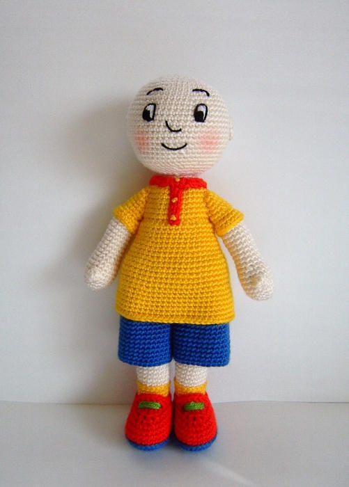 I wonder if I can make this crochet caillou doll