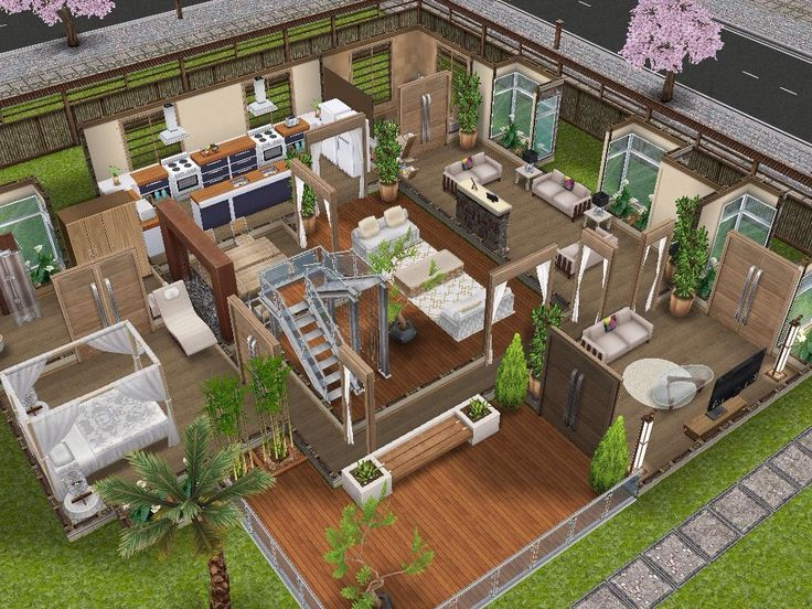 House 61 ground level #sims #simsfreeplay #simshousedesign