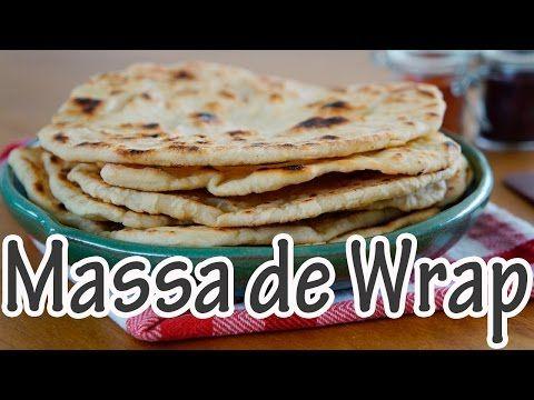 Massa de Wrap (Pão folha) - Receitas e Temperos