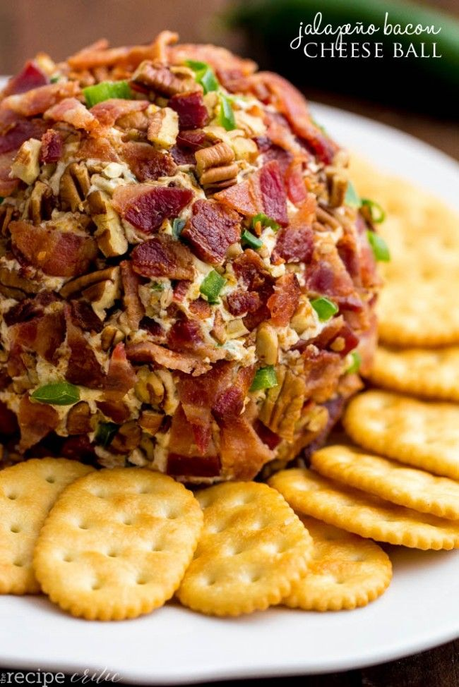 Jalapeño Bacon Cheese Ball | Cream cheese, cheddar cheese, jalapeños, all came together to make this yummy cheese ball that you won't be able to get enough of. Oh but lets not forget the bacon! @therecipecritic