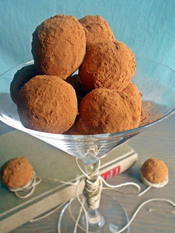 Le voyage du gateaux:   Τρουφάκια με σοκολάτα και κάστανο         Αρ...