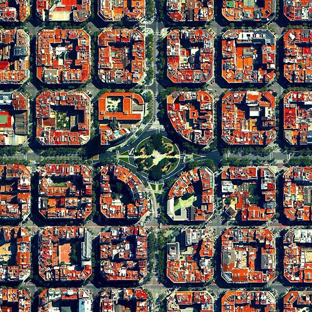 The Eixample District in Barcelona, Spain, is characterised by its strict grid…
