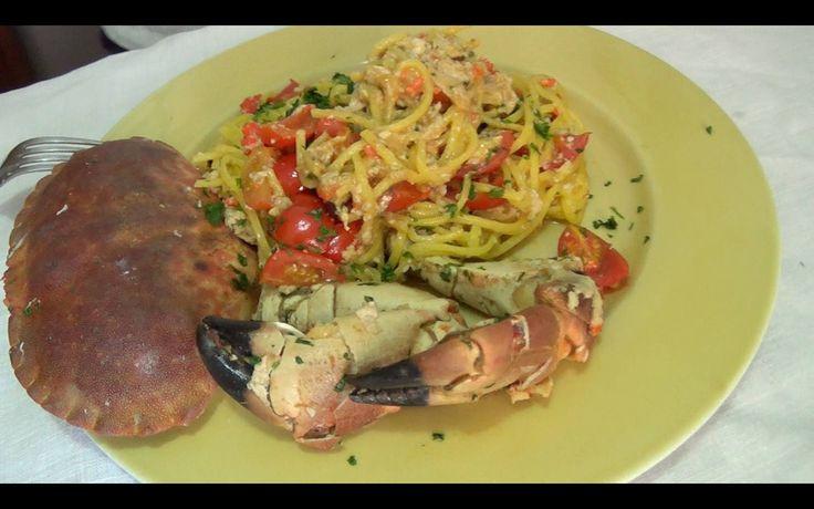 Spaghetti alla Chitarra con Granchio Rosa