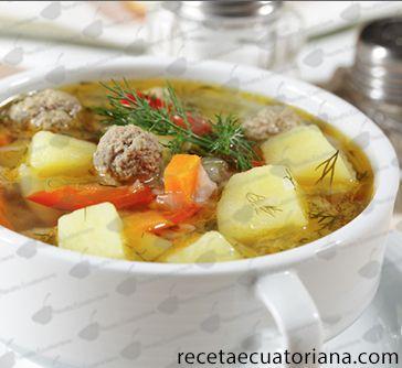 Sopa de Vegetales con Albondigas | Receta Ecuatoriana