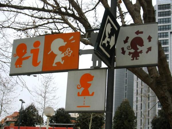 Kids' wayfinding signages