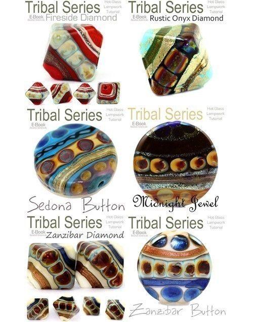 tutorial lampwork glass bead tribal series complete six volumes better price