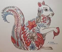 image result for enchanted forest colouring book finished - Coloring Or Colouring