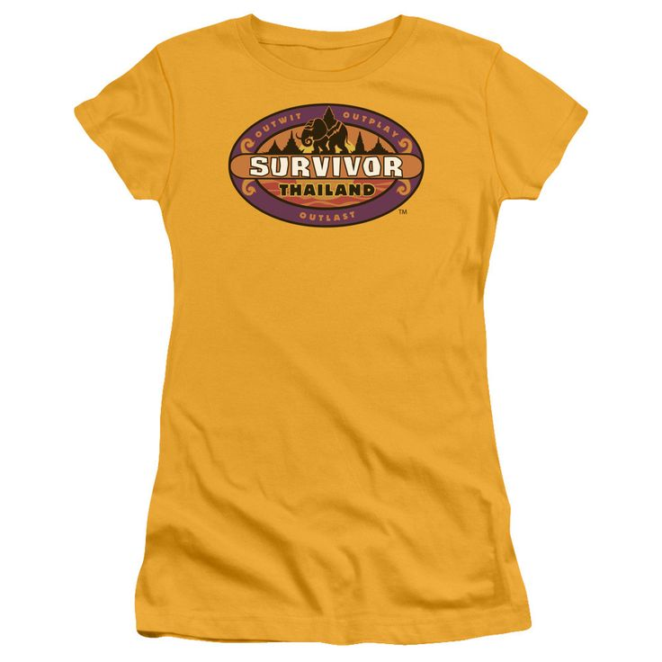 SURVIVOR THAILAND Juniors Sheer Cap Sleeve T-Shirt
