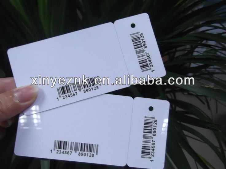 Plastic printable key fob tag with numbering code