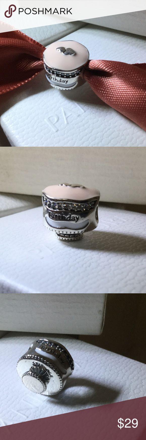 Pandora birthday cake charm ale s 925 Brand new Pandora birthday cake charm ale s925 Pandora Jewelry Bracelets