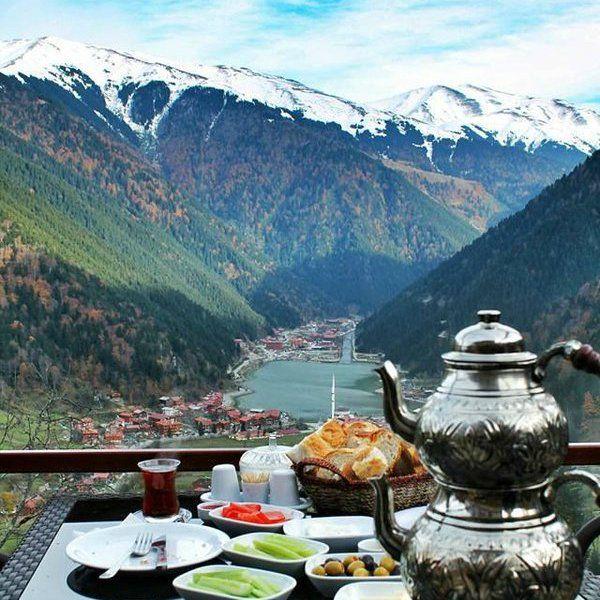 """: """"Uzungöl'de kahvaltı, Trabzon / Türkiye - Breakfast in Uzungol/ Turkey"""