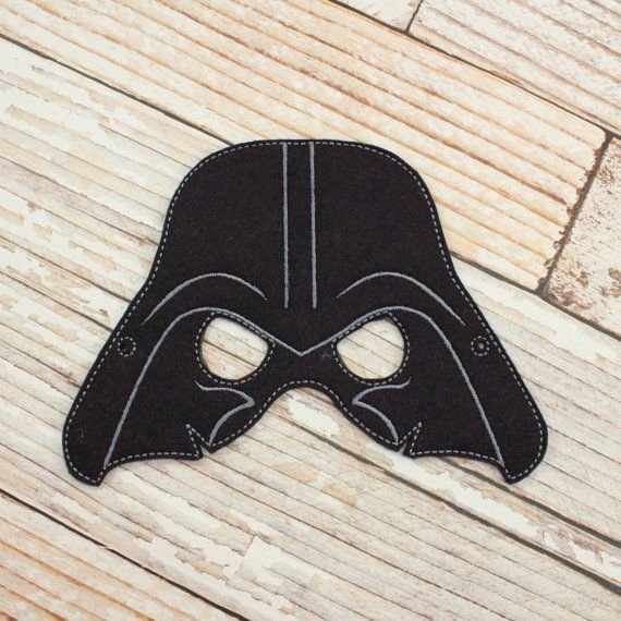 Darth Vader Mask - felt Darth Vader mask for Parties, Halloween, Dress-up Play, Darth Vader Halloween Mask, Darth Vader Halloween Costume