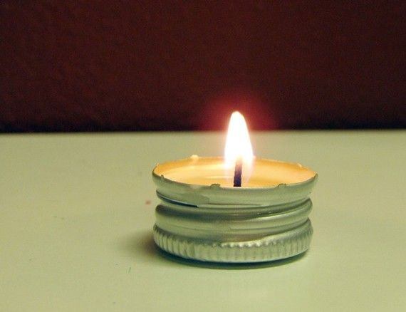 diy recycling candles