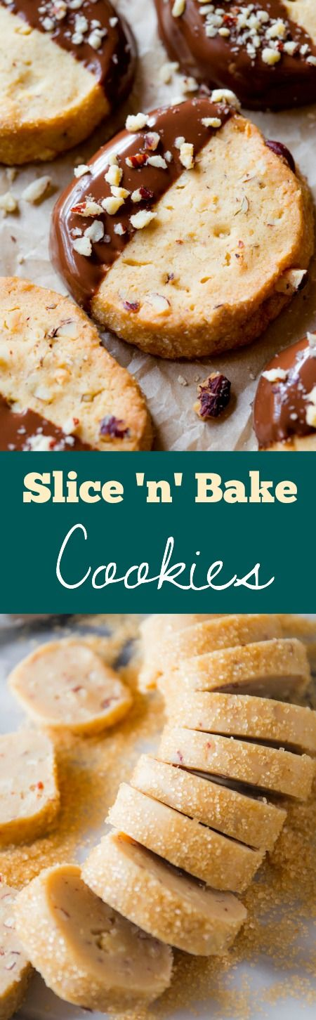The BEST make ahead cookie are slice and bake cookies! And these have so much flavor and are super simple.