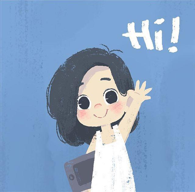 hi!  #junillustrations