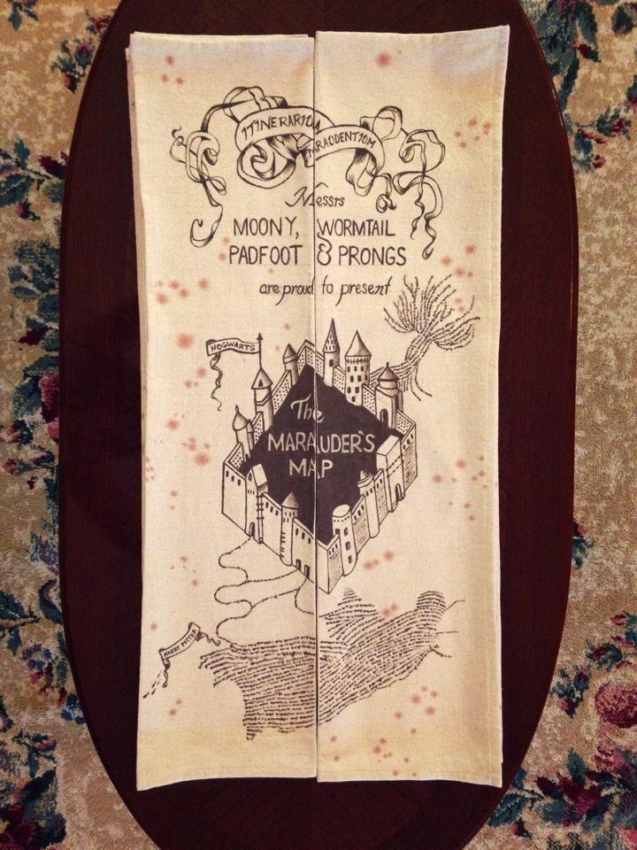 HP Marauders Map by Jerrica Blakey Yes Way!
