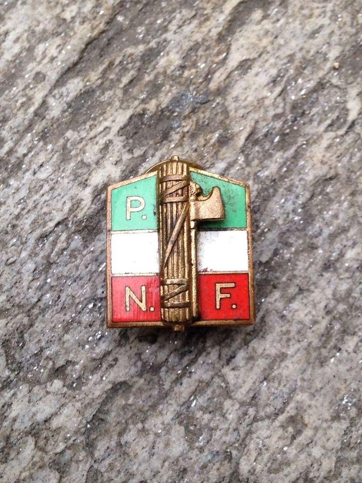 Italian fascist Party Pin insignia badge Milizia MVSN PNF WWII