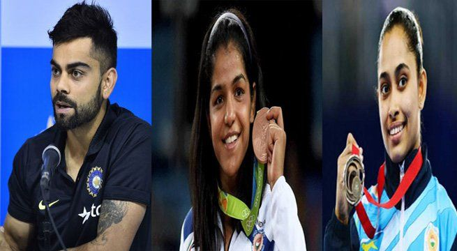 New Delhi: Indian cricket captain Virat Kohli was awarded the Padma Shri award on Thursday by President Pranab Mukherjee at a ceremony at the Rashtrapati Bhavan. Hockey captain P R Sreejesh and Rio Olympic heroes, wrestler Sakshi Malik and gymnast Dipa Karmakar, were among eight sportspersons...