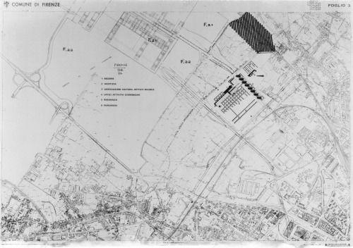 Aldo Rossi- Centro Direzionale, Site Plan, 1977