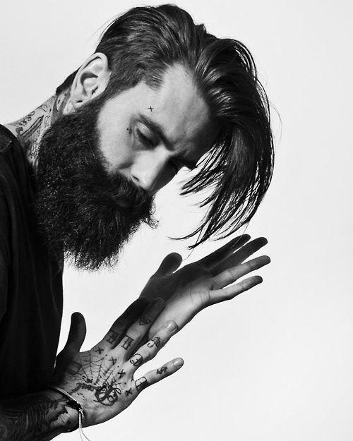 Beard style tattoo