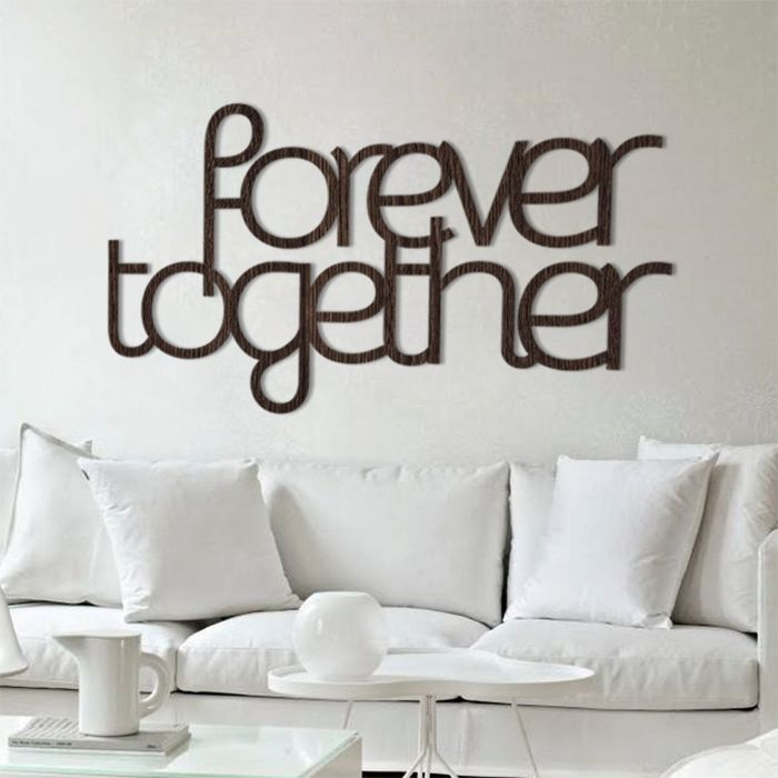 Forever together! #napis3D #napis #na #ścianę #dekoracja #wall #decoration #decor #shapedesign