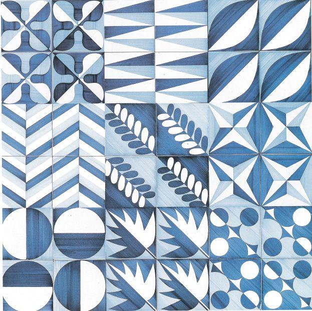 Gio Ponti; Glazed Ceramic Tiles by Ceramica D'Agostino for the Hotel Parco dei Principi, c1960.