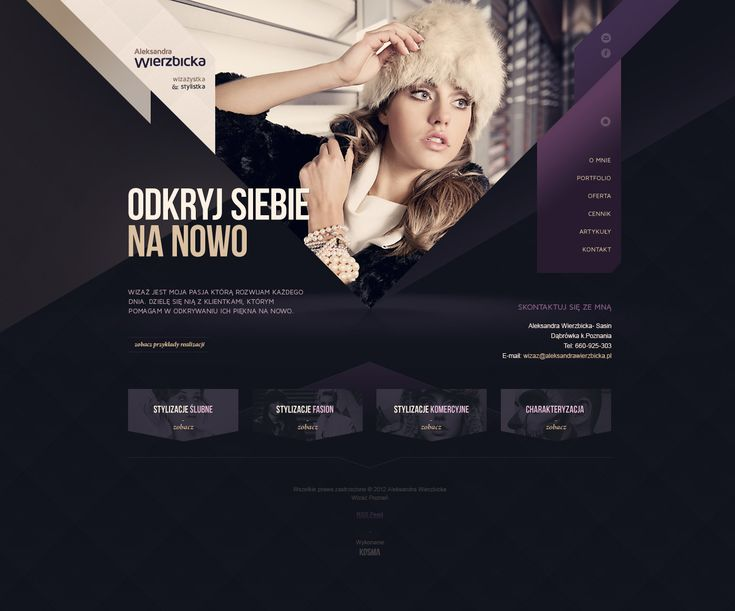 http://dribbble.com/shots/649775-Aleksandra-Wierzbicka-stylist-makeup-artist/attachments/57334  Beautiful Composition and Colour Scheme