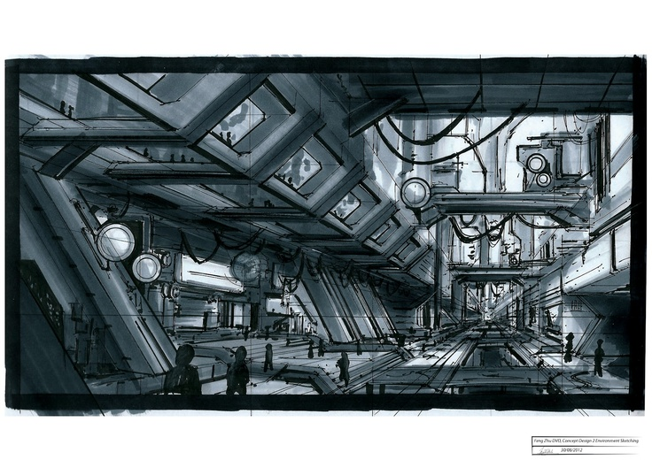 Feng Zhu—grayscale marker Concept Design 2 DVD from Gnomon Workshop