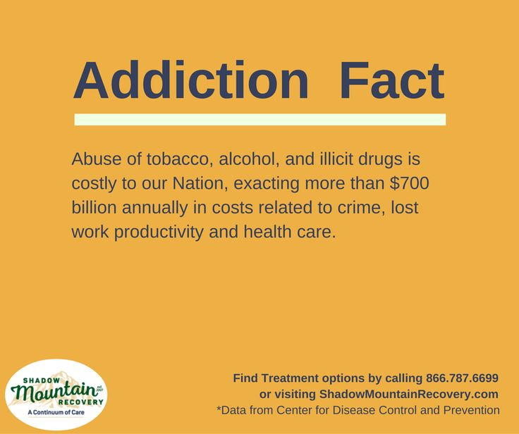 Abuse of #tobacco, #alcohol, and illicit #drugs is costly to our Nation, exacting more than $700 billion annually in costs related to crime, lost work productivity and health care. ○○○ #AddictionFact #AddictionFacts #RecoveryFact #Fact #Truth #KnowTheFacts #Addiction #Recovery #AddictionRecovery #ShadowMountainRecovery #rehabilitation #detoxification #detox #rehab #Cascade #ColoradoSprings #Denver #Colorado #Albuquerque #Taos #NewMexico #StGeorge #Utah #RecoveryIsPossible