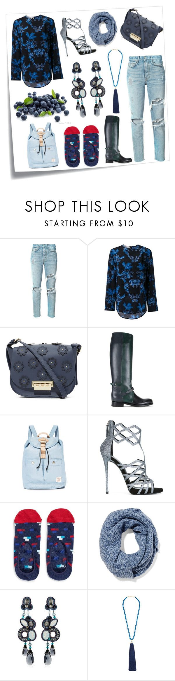"""Passion for fashion"" by emmamegan-5678 ❤ liked on Polyvore featuring Post-It, GRLFRND, STELLA McCARTNEY, ZAC Zac Posen, Pierre Hardy, Doughnut, Giuseppe Zanotti, Happy Socks, Duffy and Dori Csengeri"