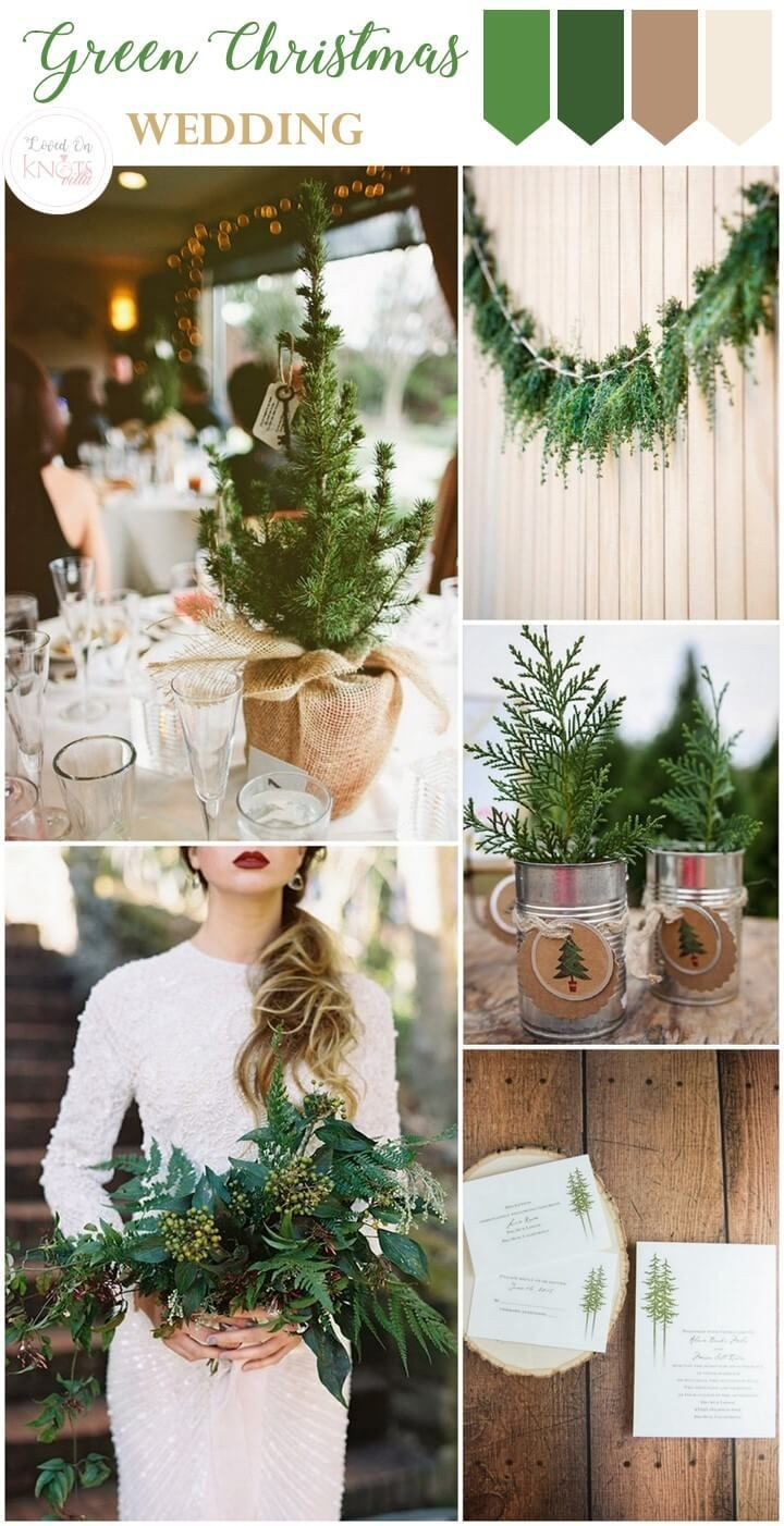 254 best green weddings images on pinterest wedding ideas decor christmas wedding inspiration junglespirit Gallery