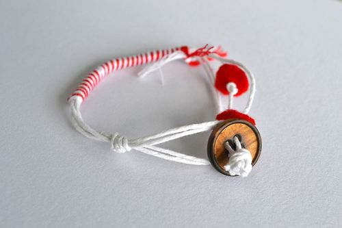A greek tradition,red and white bracelets to be worn on 1st of March!