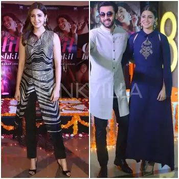 Yay or Nay : Anushka Sharma in Rohit Gandhi + Rahul Khanna and Payal Khandwala. Anushka Sharma and Ranbir Kapoor were in Delhi and Chandigarh today to promote their new film 'Ae Dil Hai Mushkil'.