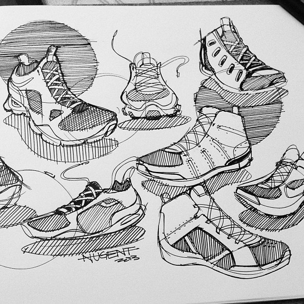 Spencer Nugent shoe sketches