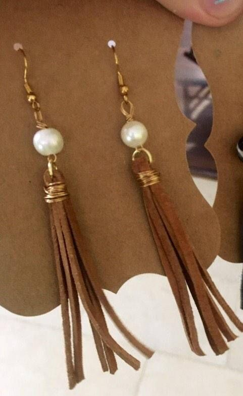 Incredibly Stone howlite pompom earrings