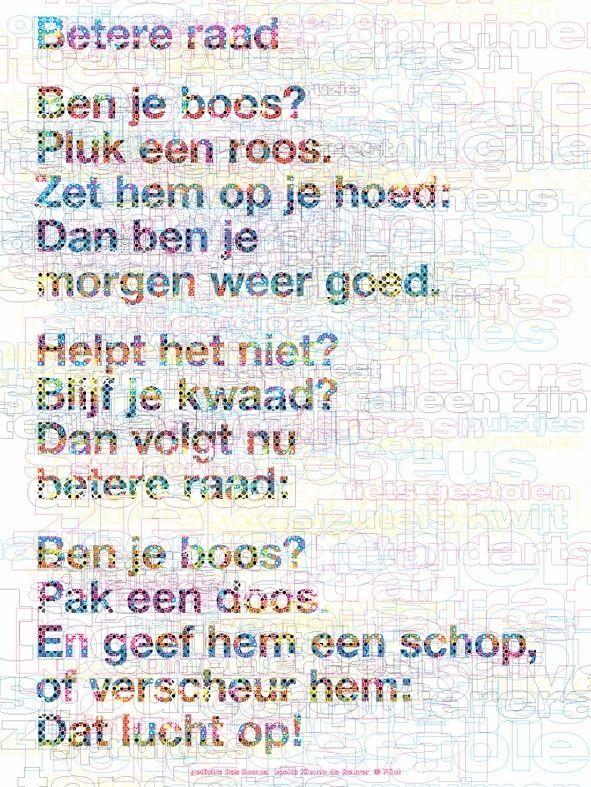 Betere raad Bas Rompa; beeld: Kimmo de Reuver; http://www.plint.nl/plint/aan-de-muur/poezieposters/poezieposter-betere-raad-bas-rompa/