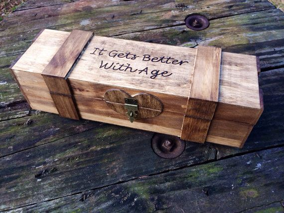 Rustic Wedding Wine Box  Wine Capsule  Wedding by CountryBarnBabe, $46.00