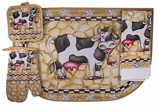 17 best images about kitchen towels pot holder 39 s stuff on pinterest ovens dish towels and - Kitchen cow theme ...
