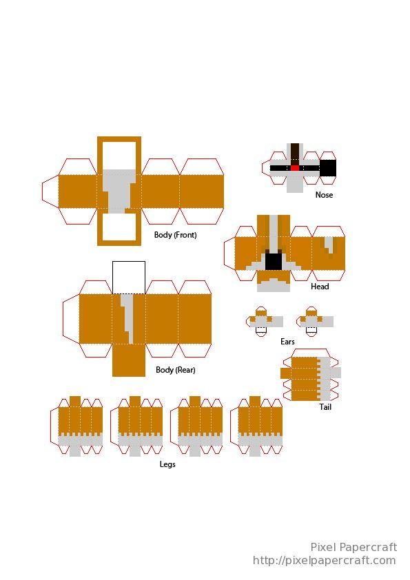 Papercraft Welsh Corgi Minecraft Pinterest D Welsh