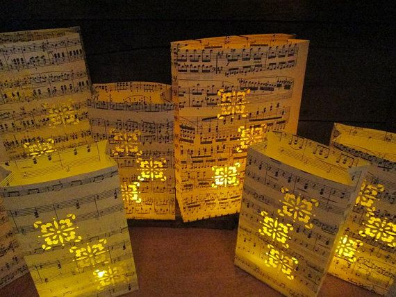 20 Sheet Music Lanterns Music Themed Wedding by Oldendesigns, $175.00