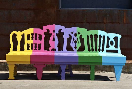 door de kleuren roep je vrolijkheid op!