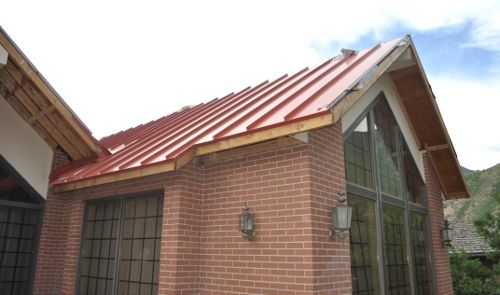 Brick House With Red Metal Roof Exterior Paint Pinterest