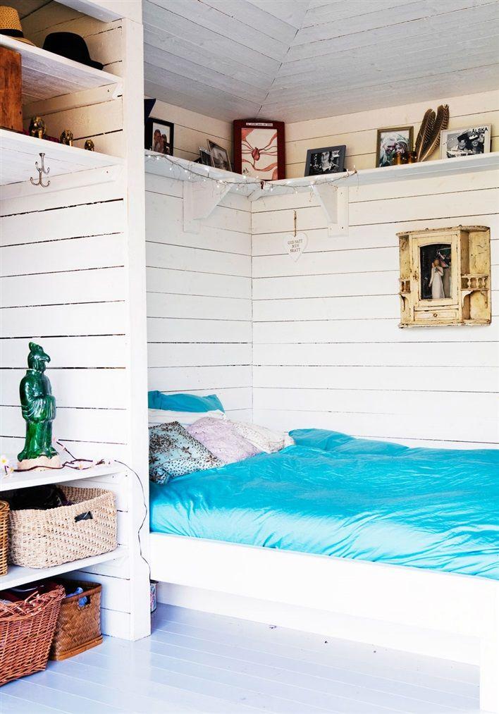 Sovrum i compact living bostad