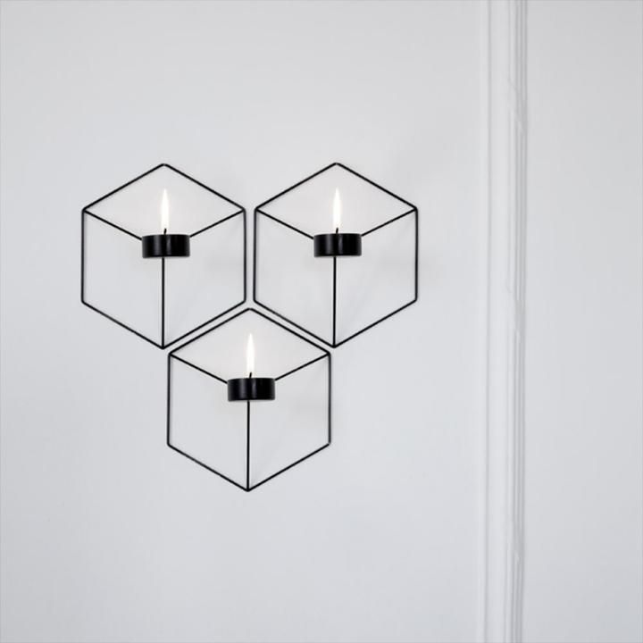 Wall Mount Nordic Tealight Candle Holder Wall Candle Holders